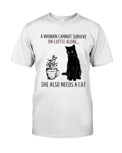 Woman Need Cat Coffee