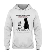 Woman Need Cat Coffee Hooded Sweatshirt thumbnail