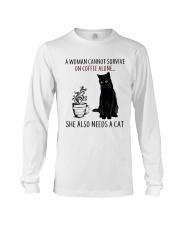 Woman Need Cat Coffee Long Sleeve Tee thumbnail
