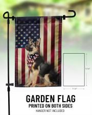 """German Shepherd American  11.5""""x17.5"""" Garden Flag aos-garden-flag-11-5-x-17-5-lifestyle-front-01"""