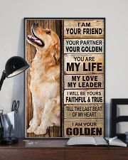 Golden Retriever Partner 11x17 Poster lifestyle-poster-2