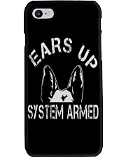 Ears Up System Armed Shepherd Phone Case thumbnail