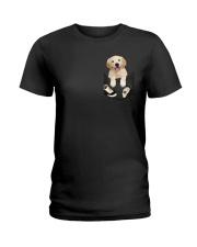 Golden Retriever Pocket Ladies T-Shirt thumbnail