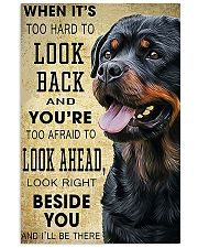 Rottweiler Beside  11x17 Poster front