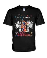 Giraffes Different V-Neck T-Shirt thumbnail