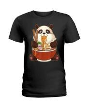 PANDA EATING Ladies T-Shirt thumbnail