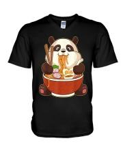 PANDA EATING V-Neck T-Shirt thumbnail
