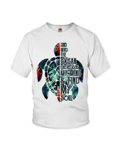 Turtle And Into The Ocean  Youth T-Shirt thumbnail