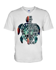 Turtle And Into The Ocean  V-Neck T-Shirt thumbnail