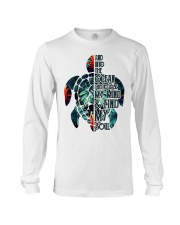 Turtle And Into The Ocean  Long Sleeve Tee thumbnail