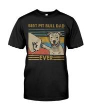 Pitbull Dad Classic T-Shirt front