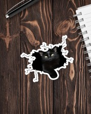 Black Cat Crack Sticker - Single (Vertical) aos-sticker-single-vertical-lifestyle-front-05