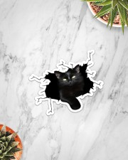 Black Cat Crack Sticker - Single (Vertical) aos-sticker-single-vertical-lifestyle-front-06