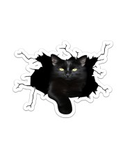 Black Cat Crack Sticker - Single (Vertical) front