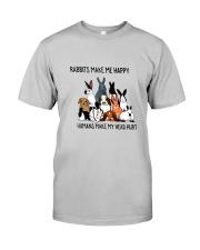 Rabbit Make Me Happy Classic T-Shirt front