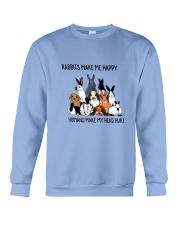 Rabbit Make Me Happy Crewneck Sweatshirt thumbnail