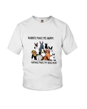 Rabbit Make Me Happy Youth T-Shirt thumbnail