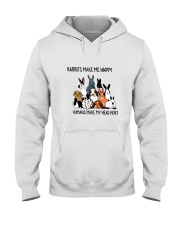 Rabbit Make Me Happy Hooded Sweatshirt thumbnail