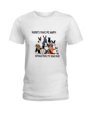 Rabbit Make Me Happy Ladies T-Shirt thumbnail