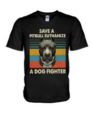 Save Pitbull V-Neck T-Shirt thumbnail