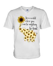 In A World Elephant Kind V-Neck T-Shirt thumbnail