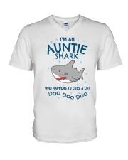 Shark Auntie Doo V-Neck T-Shirt thumbnail