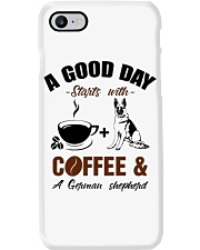 German shepherd and coffee  Phone Case tile