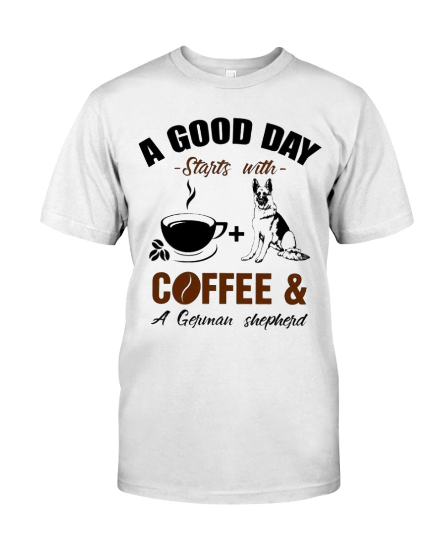 German shepherd and coffee  Classic T-Shirt