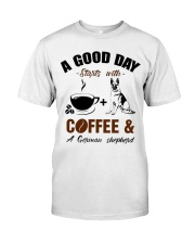 German shepherd and coffee  Classic T-Shirt tile