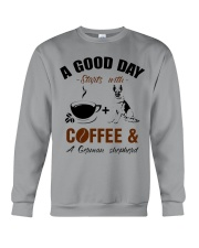 German shepherd and coffee  Crewneck Sweatshirt thumbnail