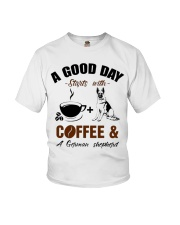 German shepherd and coffee  Youth T-Shirt tile