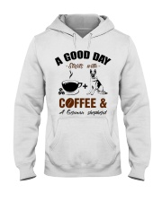 German shepherd and coffee  Hooded Sweatshirt tile