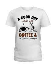 German shepherd and coffee  Ladies T-Shirt thumbnail