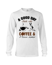 German shepherd and coffee  Long Sleeve Tee tile