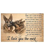 German Shepherd I Love You The Most 17x11 Poster front