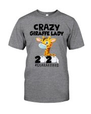 Giraffe Crazy Lady Classic T-Shirt front