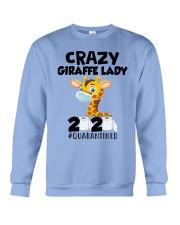 Giraffe Crazy Lady Crewneck Sweatshirt thumbnail