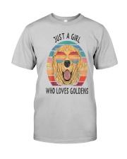 Just Girl Loves Golden Retriever Classic T-Shirt front