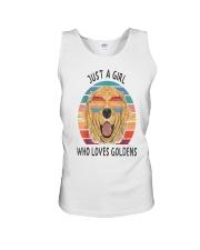 Just Girl Loves Golden Retriever Unisex Tank thumbnail