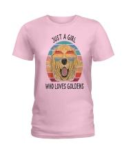 Just Girl Loves Golden Retriever Ladies T-Shirt thumbnail