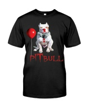 Pitbull Halloween is Coming Classic T-Shirt tile
