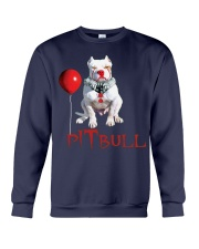 Pitbull Halloween is Coming Crewneck Sweatshirt tile