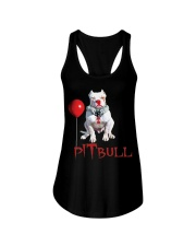 Pitbull Halloween is Coming Ladies Flowy Tank tile