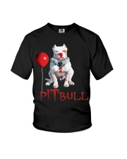 Pitbull Halloween is Coming Youth T-Shirt tile