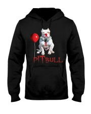 Pitbull Halloween is Coming Hooded Sweatshirt tile