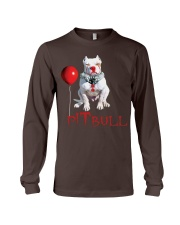 Pitbull Halloween is Coming Long Sleeve Tee tile