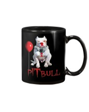 Pitbull Halloween is Coming Mug tile