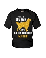 Golden Retriever Glitter Youth T-Shirt thumbnail