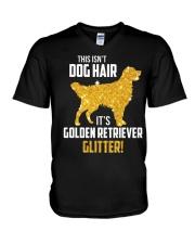 Golden Retriever Glitter V-Neck T-Shirt thumbnail