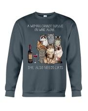 A woman Need Cats Crewneck Sweatshirt thumbnail